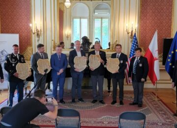 Sergeant Correy Speck admitted to the Polish Army Veterans' Association in America.